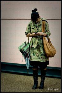 Texting away in Spitalfields market
