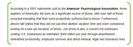 Stress APA quote