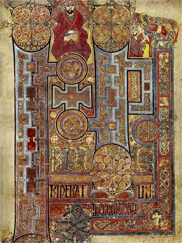 The Book of Kells [Public domain], via Wikimedia Commons (CC PD-1996)