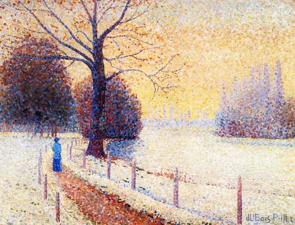 Albert Dubois-Pillet - Le Puy in the Snow