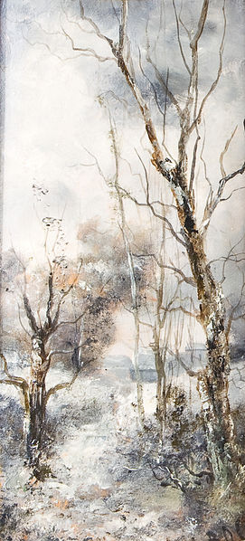 Karl Roux - Waldlandschaft in Winter