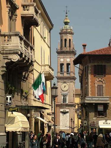 parma emiliaromagna italy europe piazza in the city of parma